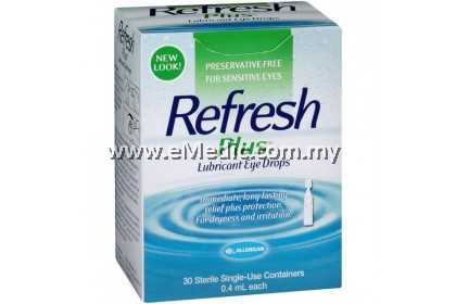 Allergan Refresh Plus Lubricant Eye Drops (30's x 0.4ml)