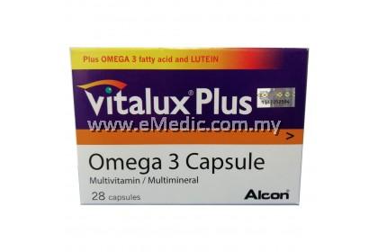 VITALUX PLUS OMEGA 3 CAPSULE - 28'S